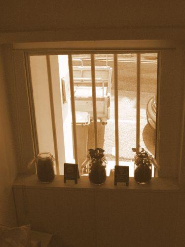 Looking thru the window